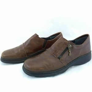 Helle Comfort Womens Size 42 Brown Leather Loafers